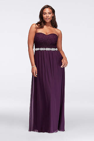 Plum Colored Dresses & Gowns | David\'s Bridal