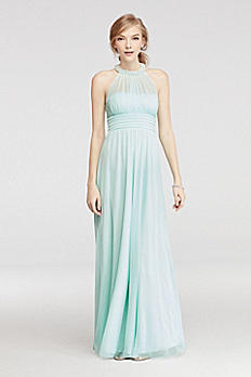 Beaded Illusion Halter Ruched Prom Dress X33401J33