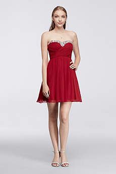 Short A-Line Strapless Prom Dress - Speechless
