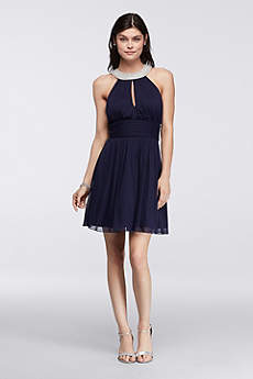 Short A-Line Halter Prom Dress - Speechless