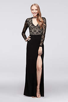 Long Sheath Long Sleeves Formal Dresses Dress - Speechless