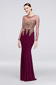 Long Mermaid/ Trumpet Long Sleeves Formal Dresses Dress - Xscape