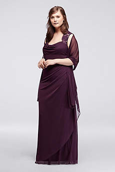 Long Sheath Cap Sleeves Military Ball Dress - Xscape