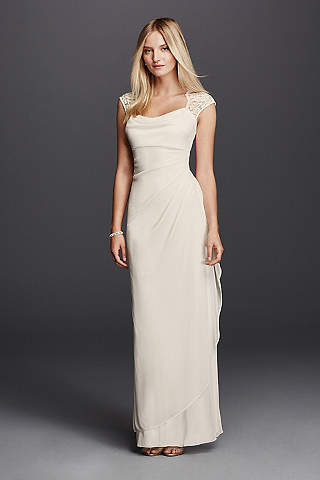 Form Fitting Long Bridesmaid Dresses