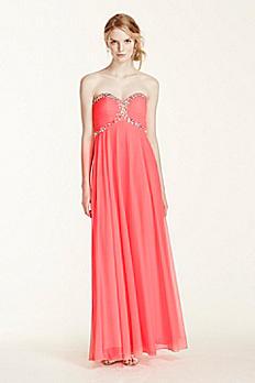 Sweetheart Jeweled Bodice Dress XS5512