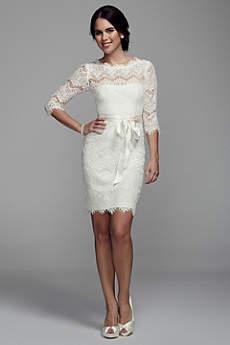 Short Sheath 3/4 Sleeves Dress - DB Studio