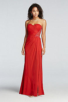 Strapless Beaded Cut Out Back Prom Dress XS6876