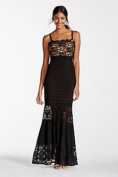 Illusion Lace Banded Dress XS7570