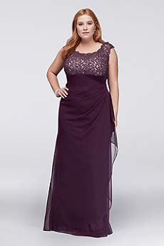 Long Sheath Cap Sleeves Cocktail and Party Dress - Xscape