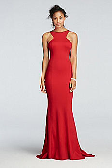 High Neck Open Back Prom Dress with Mermaid Skirt XS8305