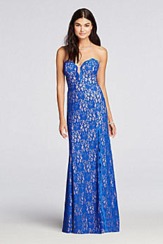 Sweetheart Neckline All Over Lace Prom Dress XS8513
