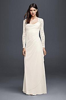 Lace Cap Sleeve Long Mesh Wedding Dress XS8644
