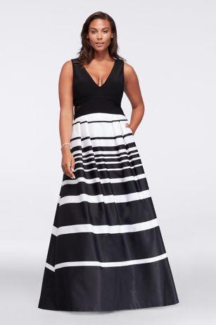 V Neck Plus Size Dresses