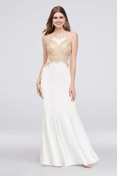 Long Mermaid/ Trumpet Halter Formal Dresses Dress - Xscape