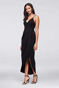 Tea Length A-Line Spaghetti Strap Formal Dresses Dress - Xscape