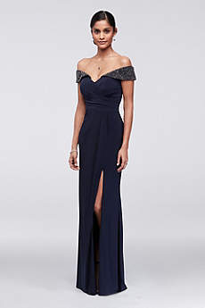 Long Sheath Off the Shoulder Mother and Special Guest Dress - Xscape