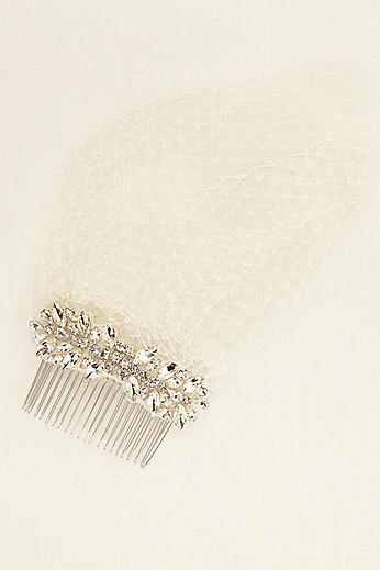Truly Zac Posen Crystal Comb Russian Tulle Blusher ZP09
