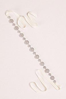 Pearl and Crystal Circles Sash ZP11SASH15