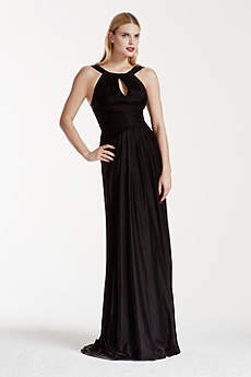 Soft & Flowy Truly Zac Posen Long Bridesmaid Dress