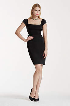 Short Sheath Cap Sleeves Cocktail and Party Dress - Truly Zac Posen
