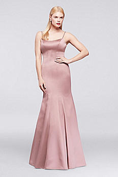 Long Satin Mermaid Dress with Jeweled Straps ZP281668