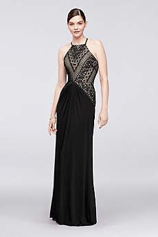 Long A-Line Halter Formal Dresses Dress - Truly Zac Posen