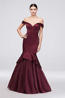 Long Mermaid/ Trumpet Off the Shoulder Formal Dresses Dress - Truly Zac Posen