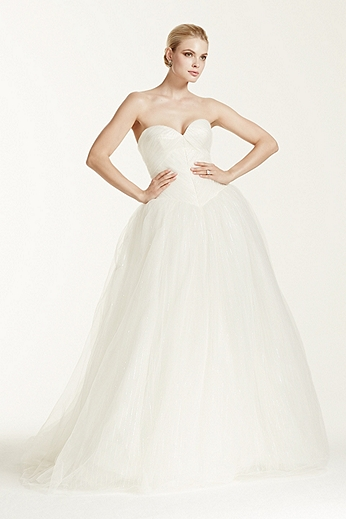 Strapless Tulle Ball Gown with Sequin Detail ZP341403