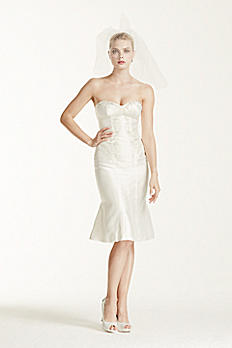 Truly Zac Posen Short Wedding Dress with Corset ZP341407