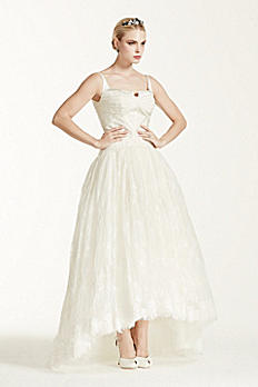 Truly Zac Posen Lace High Low Tank Wedding Dress ZP341412