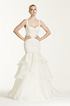 Truly Zac Posen Tiered Trumpet Wedding Dress ZP341500