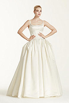 Truly Zac Posen Satin Wedding Dress with Pleating ZP341501
