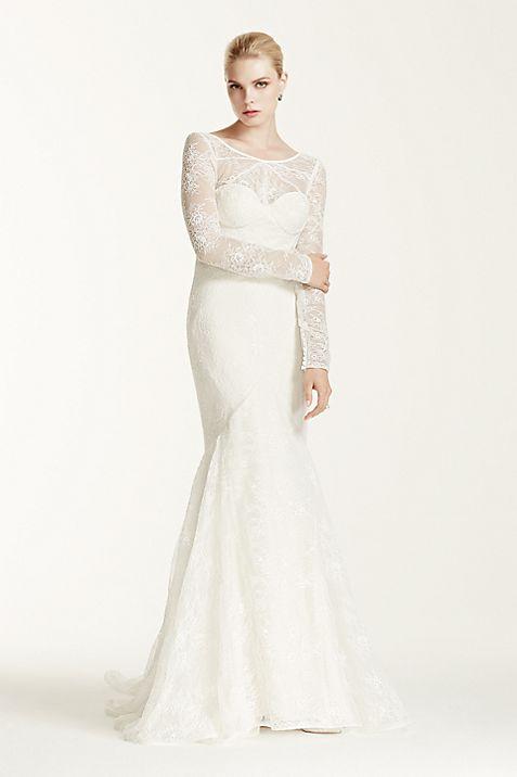 Truly Zac Posen Lace Long Sleeve Wedding Dress   David\'s Bridal