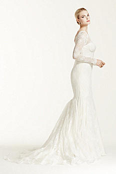 Truly Zac Posen Lace Long Sleeve Wedding Dress ZP341506