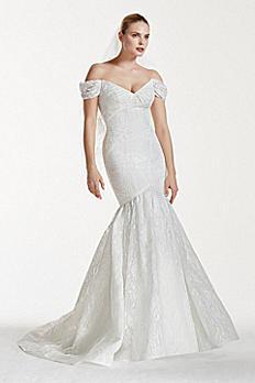 Truly Zac Posen Lace V-Back Wedding Dress ZP341554