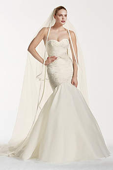 As-Is Mermaid Wedding Dress with Beaded Lace