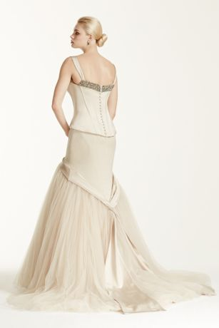 Truly zac posen wedding dress with tank bodice david 39 s for Zac posen wedding dresses sale