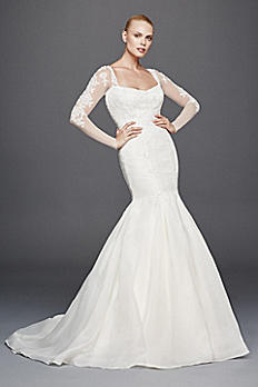 Truly Zac Posen Long Illusion Sleeve Wedding Dress ZP341640