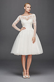 Truly Zac Posen Long Sleeved Short Wedding Dress ZP341642