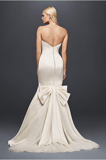 Truly Zac Posen Seamed Satin Wedding Dress
