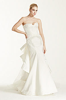 Truly Zac Posen Petite Strapless Wedding Dress 7ZP345004