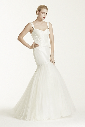 Taffeta Fit and Flare Gown with Corset Seaming ZP345006