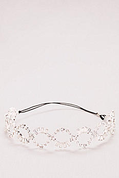 Baguette Crystal Braided Headband ZP48HP17