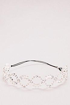 Baguette Crystal Braided Headband ZP48HP17