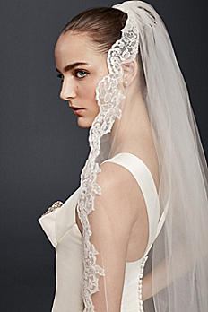 Cathedral Veil with Sequin Lace ZP48V08