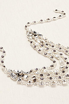 Multi Strand Crystal Chain Necklace ZP704514
