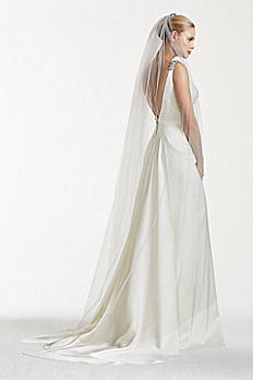Truly Zac Posen Chapel Veil with Crystal Comb ZPV019