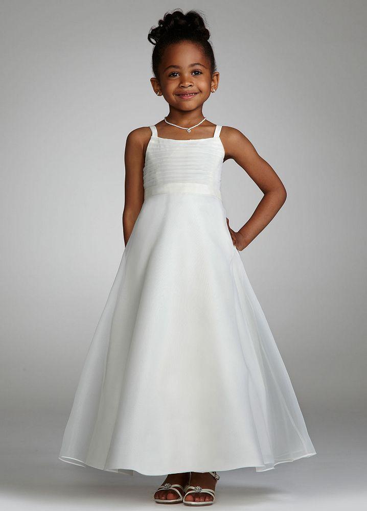 Flower Girl Dresses Davids Bridal White : David s bridal organza and taffeta in flower girl