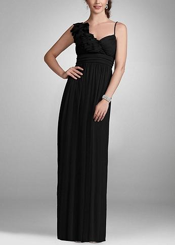 Long Mesh Evening Dress with 3D Floral Detail 8420Z200
