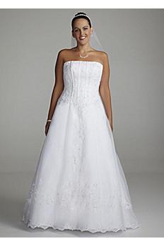Organza Corset Beaded Lace Plus Size Wedding Dress 9OP8822